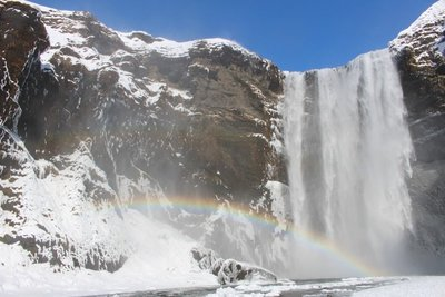 Double Rainbow Over Skogafoss