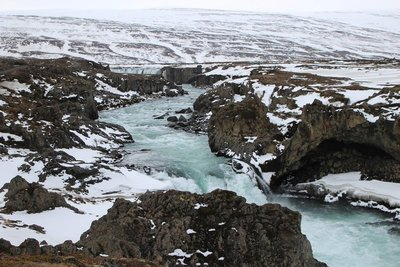 Looking Down Over Godafoss