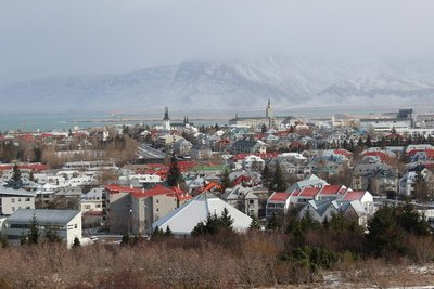 Looking over Reykjavik