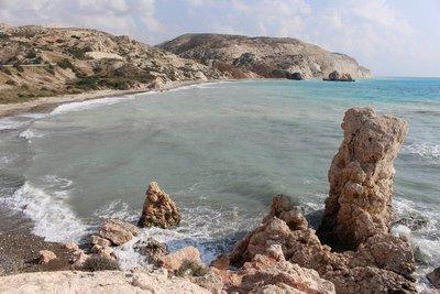 Beach at Petra tou Romiou