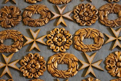 Decorative Maltese Crosses and Garlands