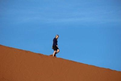 Going down Dune 45