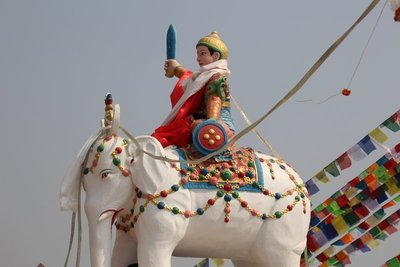 Statue at Boudhanath