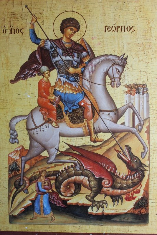 Mural of St George