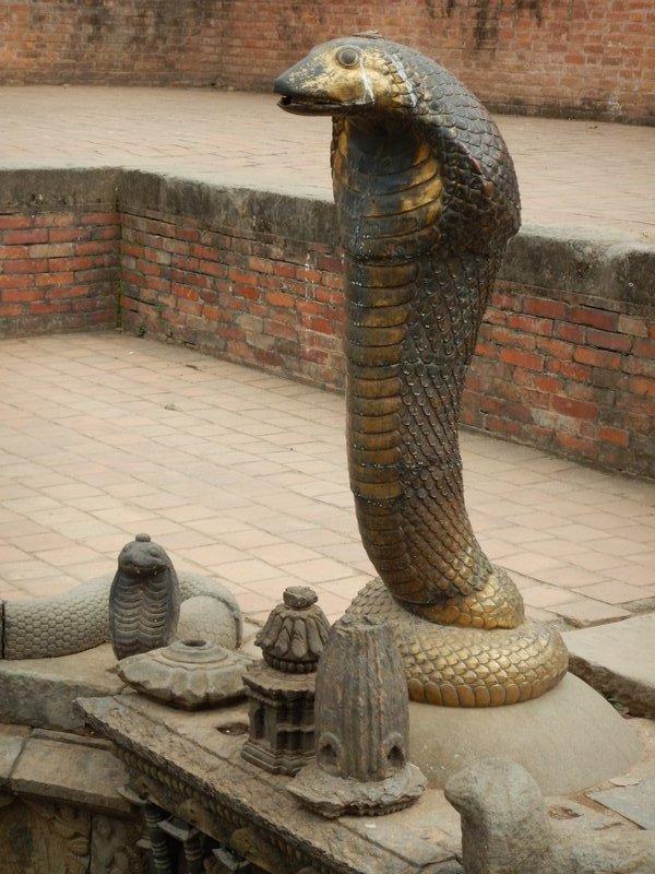 Snake Statues in the Sundari Chowk