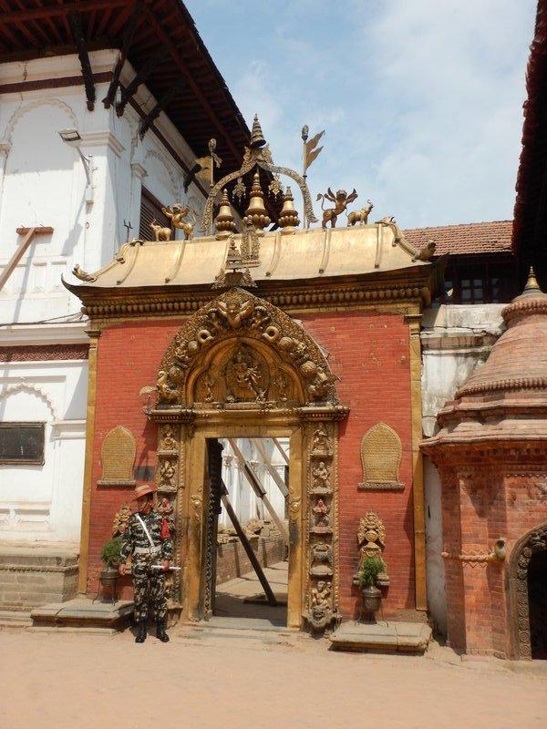 Sun Dhoka - Golden Gate with Gurkha Guard