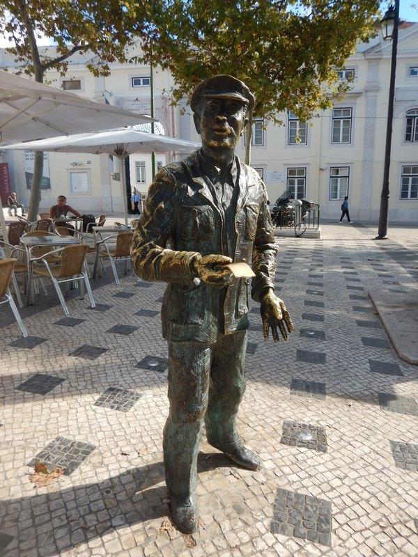 Statue in a Lisbon Square