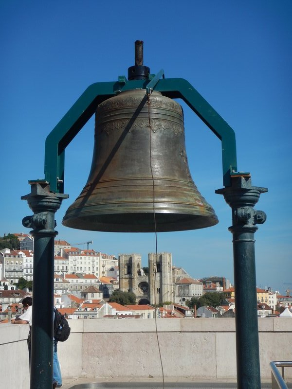 Bell on top of the Arch in Lisbon