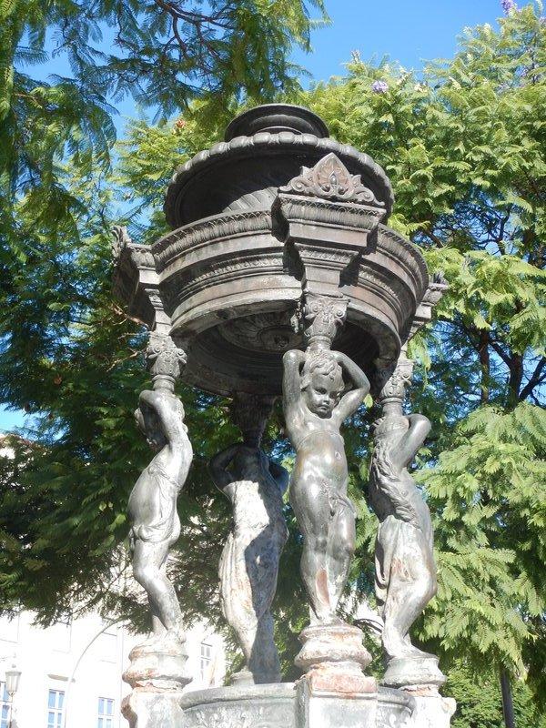 Statue in Rossio Square