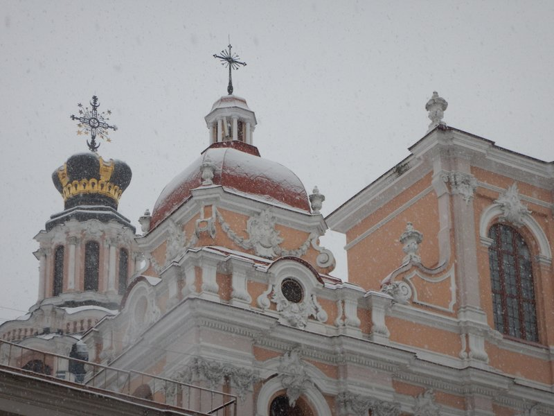 Onion domes in the snow, St Casimir's