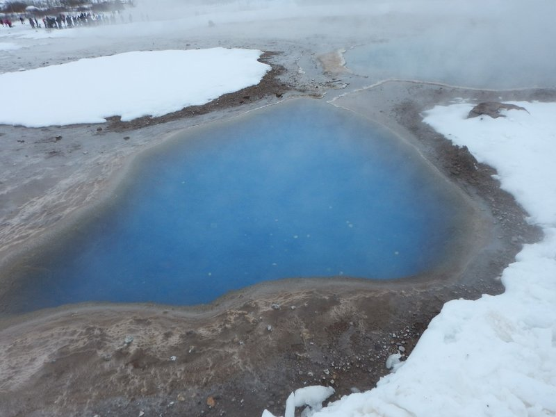Hot Blue Pool at Geysir