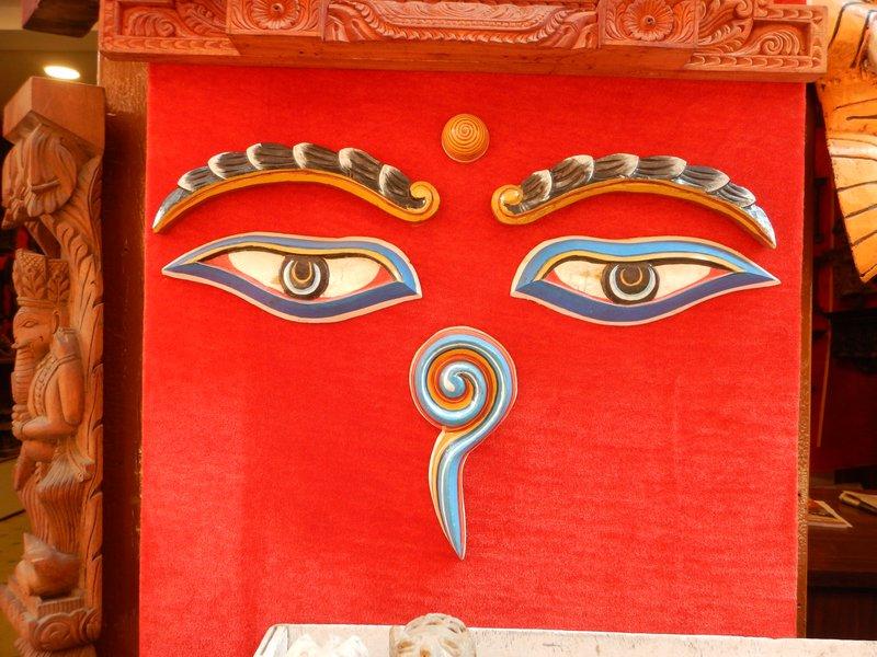 Pottery Eyes of Buddha