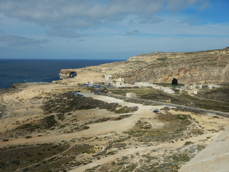 Looking over the Azure Window