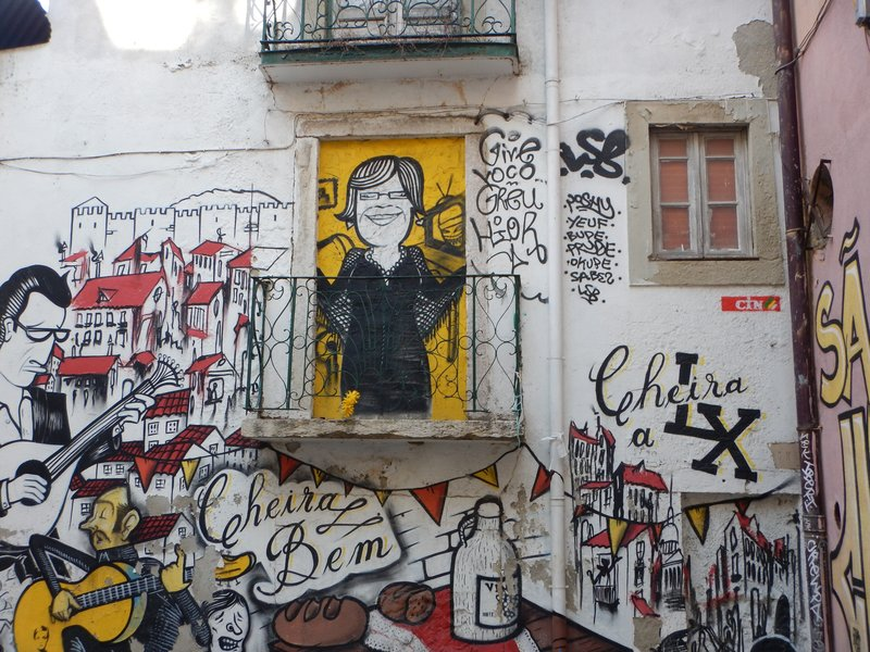 Street art in the Alfama
