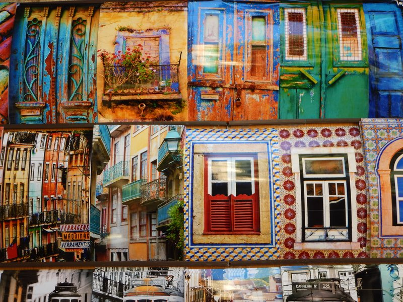 Postcard Display in the Alfama District Lisbon