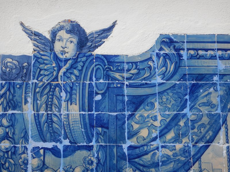 Old tile detail at the Miradouro de Santa Luzia