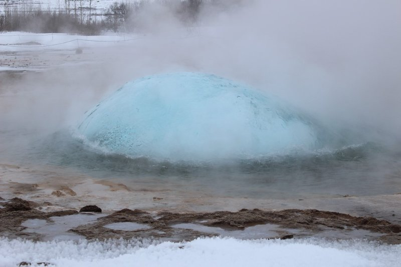 Strokkur About To Burst