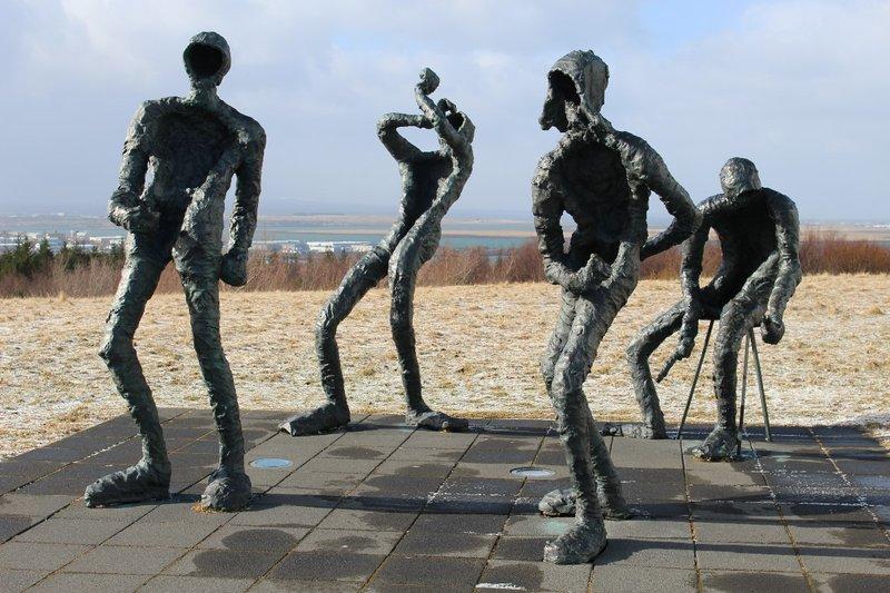 Dancing People Outside the Perlan