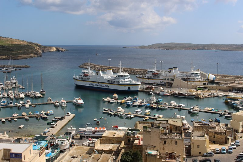 Mgarr Harbour, the entrance to Gozo