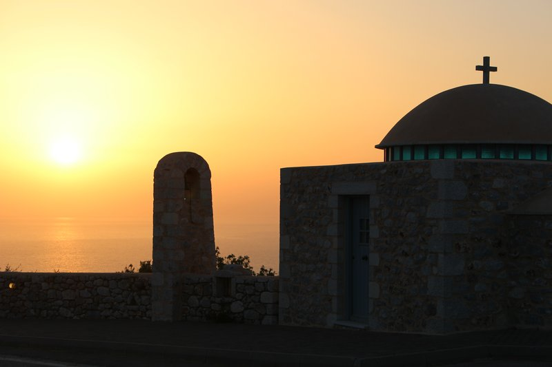 Greek Church at Sunset
