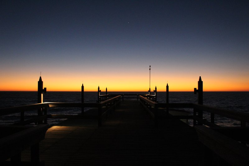 Sunset over the jetty, Swakopmund