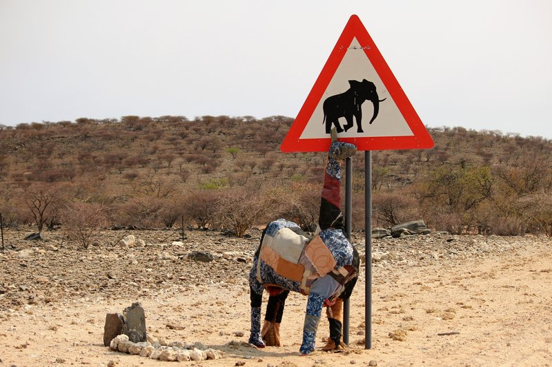 Watch out for elephants and patchwork giraffes