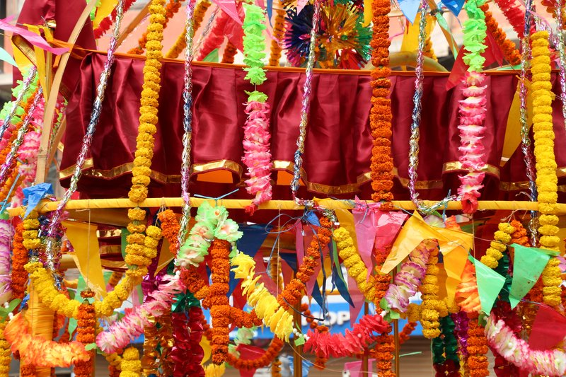 Shivaratri temple decorations