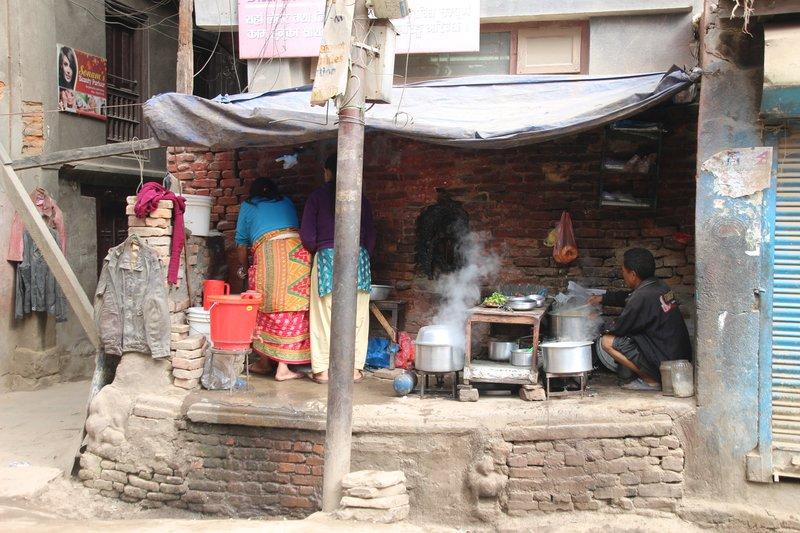Post quake Nepali kitchen