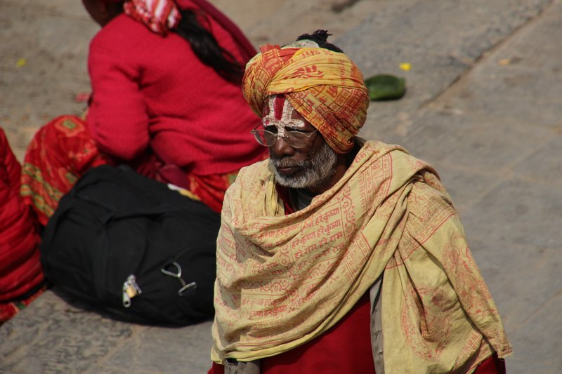 Holy man at Pashupatinath