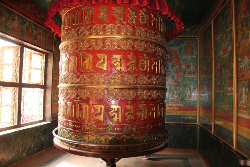Enormous prayer wheel