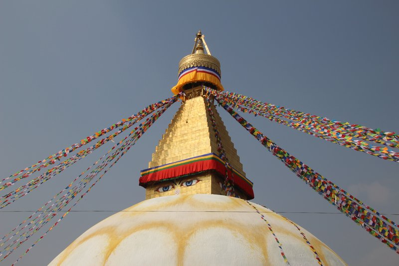 Renovated Boudhanath Temple