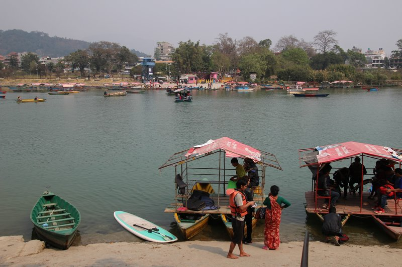 Ferrying passengers to Tal Barahi Temple on Phewa Lake