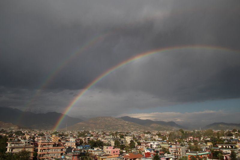 Double Rainbow Over Pokhara