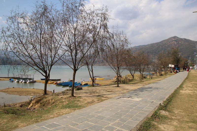 Promenade by Phewa lake