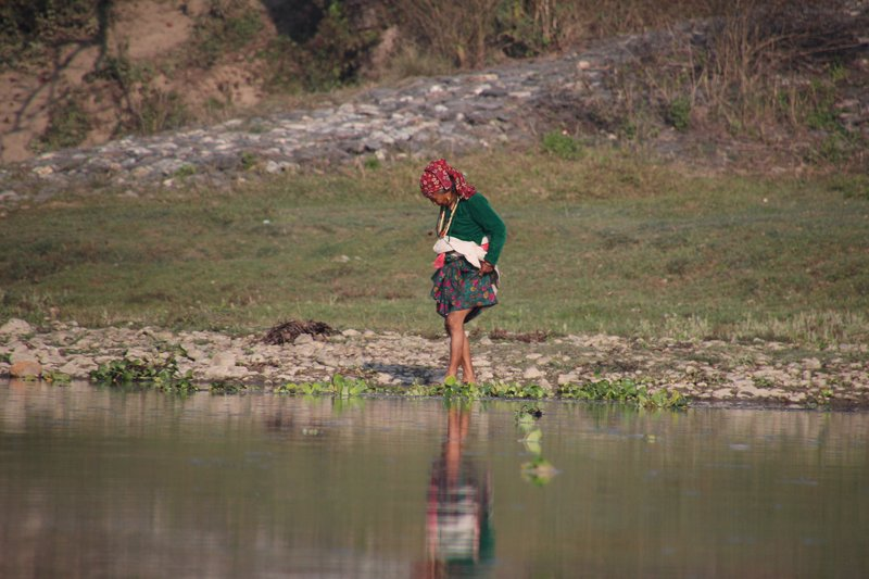 Paddling in the Rapti River