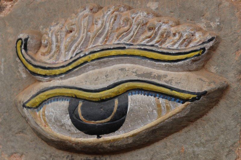 Eye Detail From a Bhaktapur Doorway