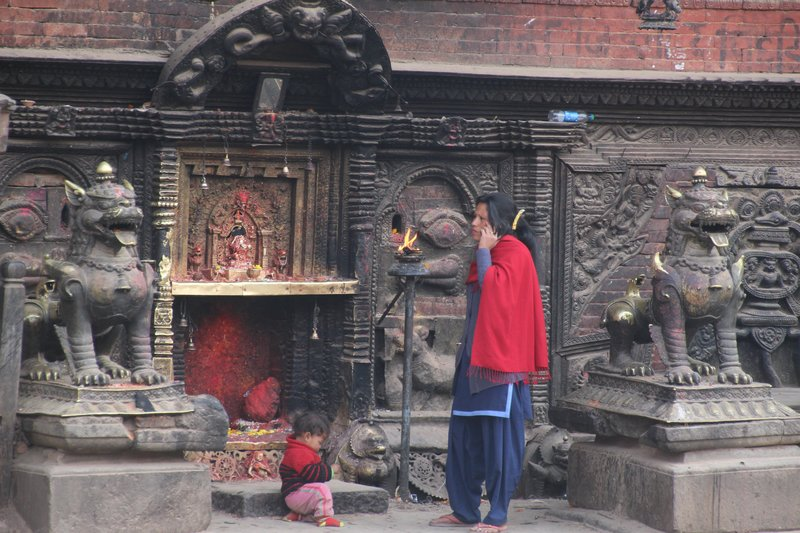 At the Bhairavanth Temple