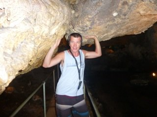 Dad being silly in Mammoth Cave