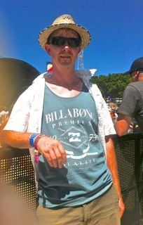 Dad trying to be cool at the Big Day Out
