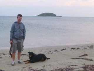 Me and Dad on the beach