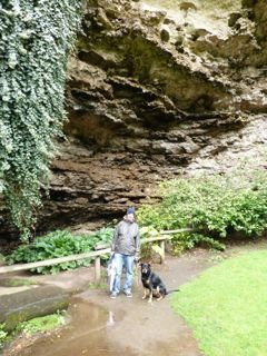 Me and Dad at the cave gardens in Mount Gambier