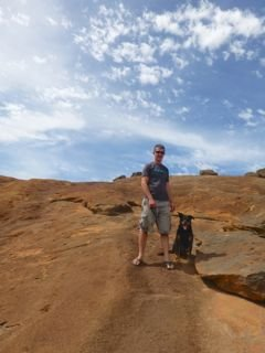 Me and Dad on top of The Hump