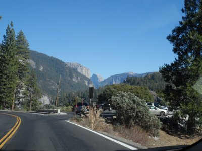 ... until suddenly, before your eyes, the mammoth gray rocks of Yosemite!