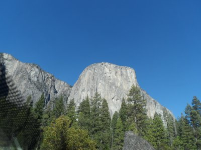 El Capitan, the world's largest granite monolith, rises almost 3000 ft above the valley floor.