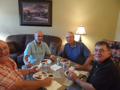With brother-in-law Bill Jeffers, Bud Rinke and Joe Gehrts