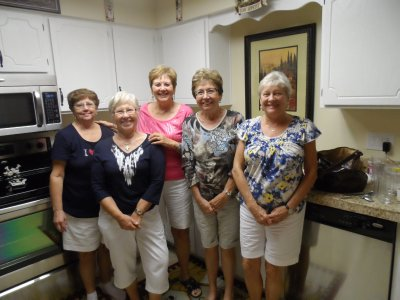 With Sauk Rapids friends -- Helen Gehrts, Doris Hanson, Karen Dunham and  Barb Rinke
