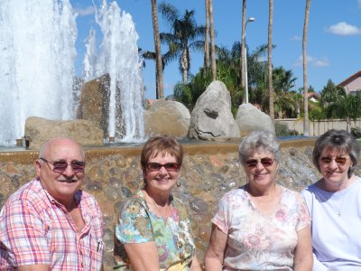 With Bill & Carol Jeffers and cousin Murlie in Gilbert