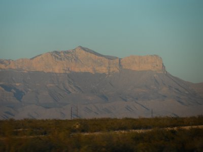 Guadalupe Mountain heights: Guadalupe Peak and El Capitan