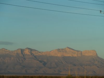 Finally we arrived at the Guadalupe Mountains where tomorrow we'll tour the 2 national parks in these mountains: Carlsbad Caverns and Guadalupe Mts. NP.