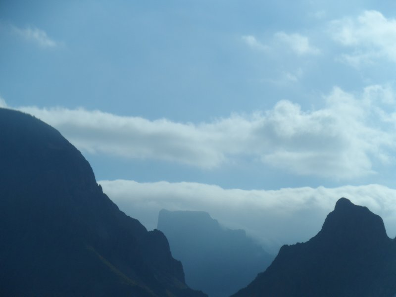Being able to see through The Window of 1 distant mountain formation to another.
